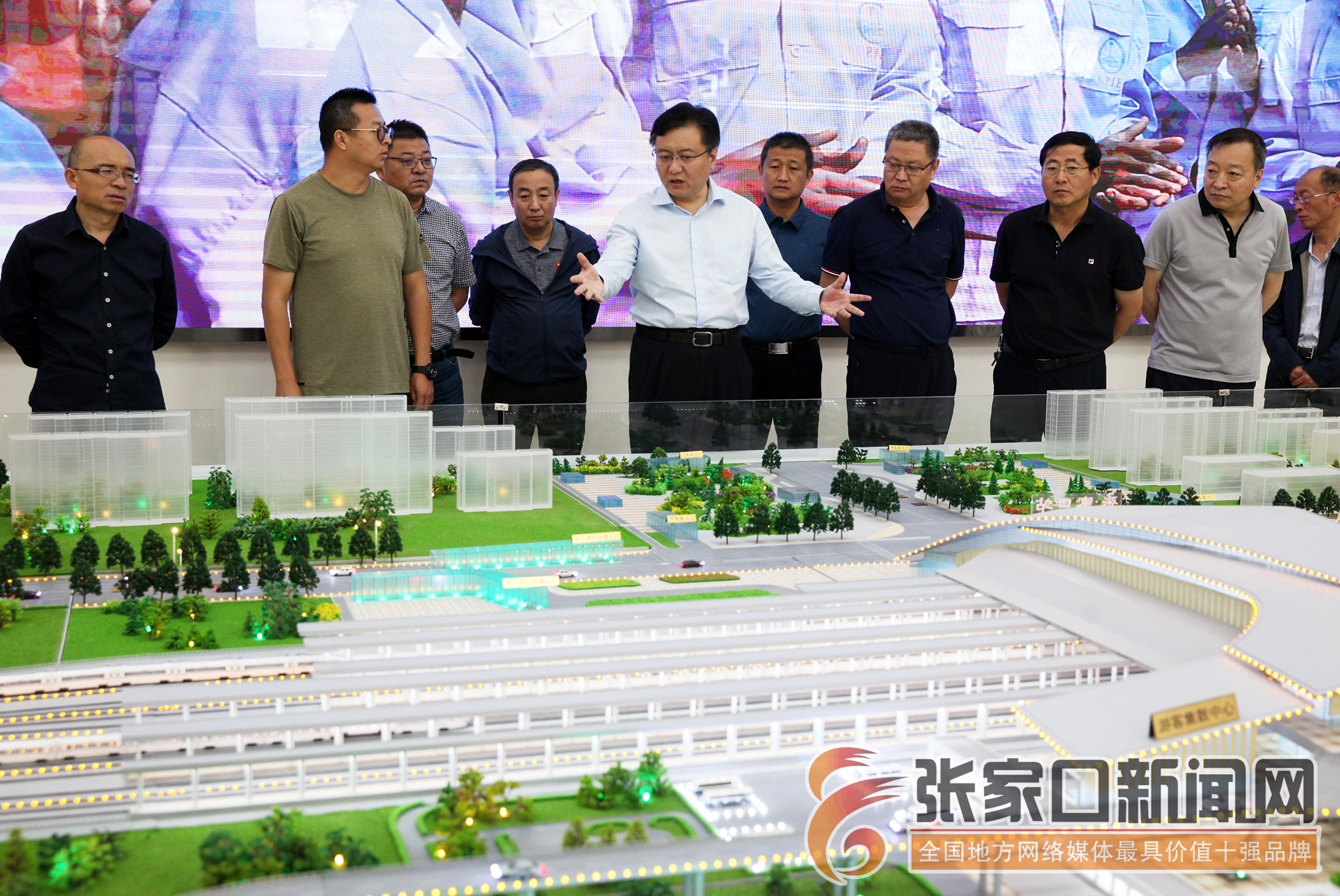 张家口市市长武卫东调度京张高铁张家口枢纽等项目建设进展情况