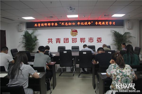 邯郸团市委召开专题教育学习会议