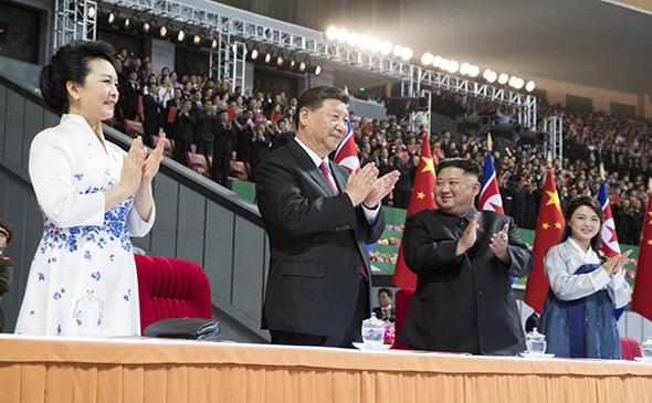朝鲜为习近平来访专门创作的演出 现场太美太壮观