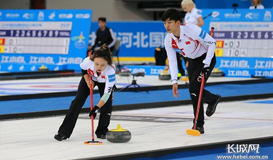 中国首个混双冰壶赛事在河北奥体中心开赛