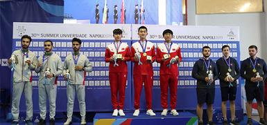 河北体院学生康政国夺得男子10米气步枪团体金牌