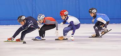 第二届全国青年运动会轮滑与短道速滑全能开赛
