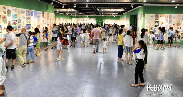 第六届丹青少年中国书画大赛优秀作品展开幕