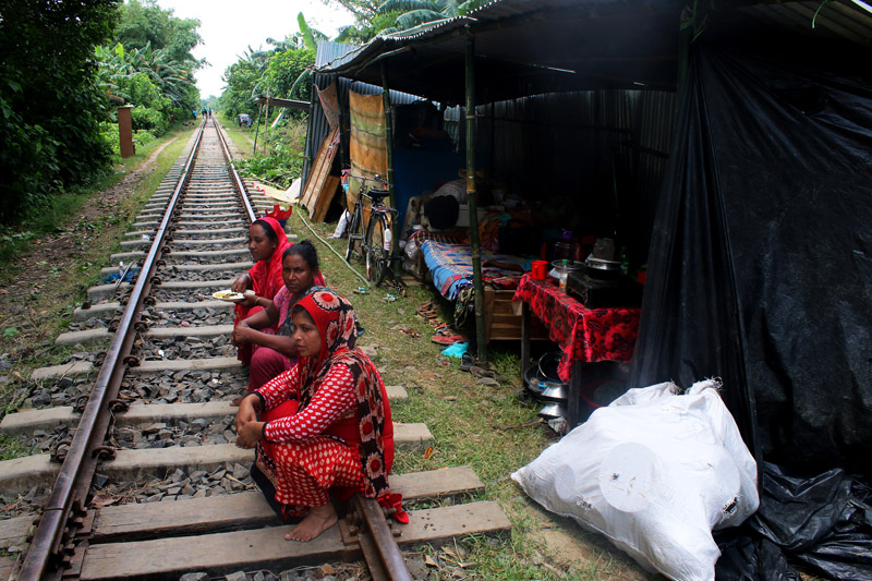 孟加拉国遭遇暴雨