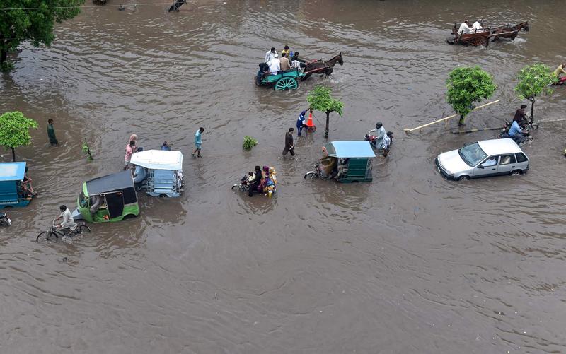 巴基斯坦拉合尔洪水泛滥
