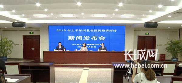 """""""2019年上半年河北省国民经济形势"""" 新闻发布会"""