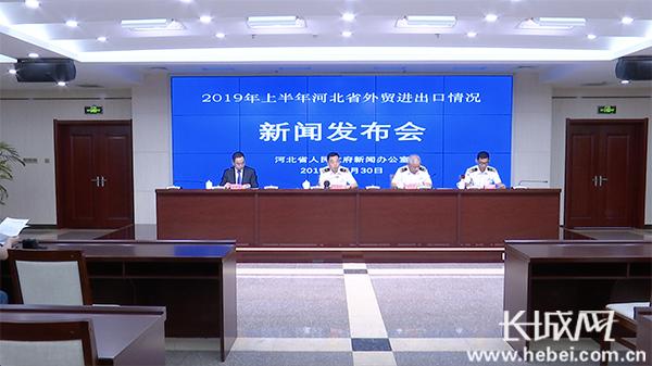 2019年上半年河北省外贸进出口情况