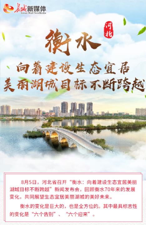 【发布会图解】衡水:建设生态宜居美丽湖城