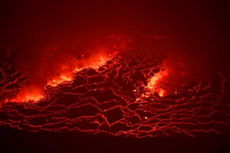 刚果戈马一火山喷发