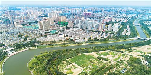 衡水市区滏阳河一景