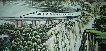 画笔描绘三十六年的火车情