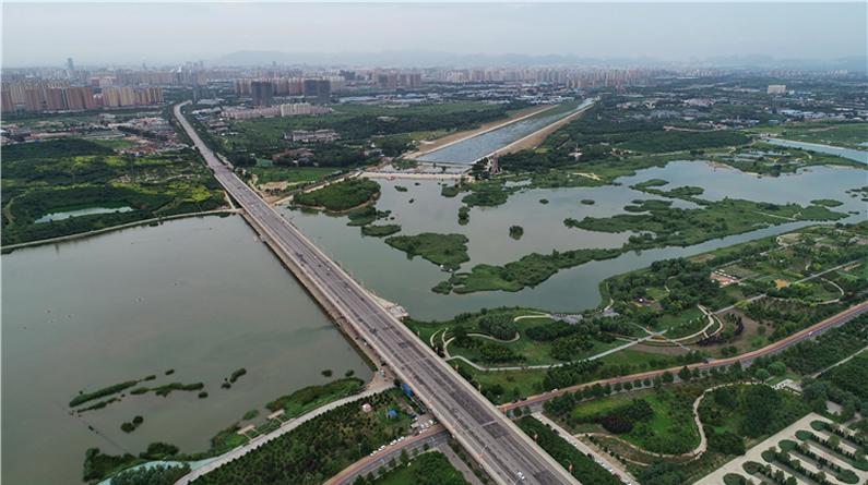 石家庄:滹沱河生态治理现美景