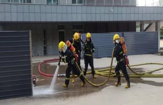 安平微型消防站开展比武竞赛