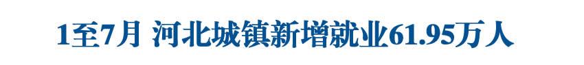 1至7月河北城镇新增就业61.95万人