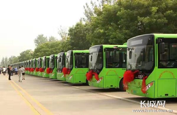 魏县5条城市公交线路方便群众出行