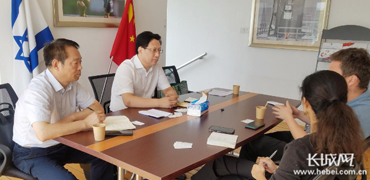 河北省贸促会会长赴京拜访中国以色列商会