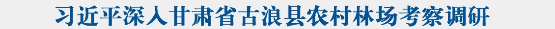 习近平深入甘肃省古浪县农村林场考察调研