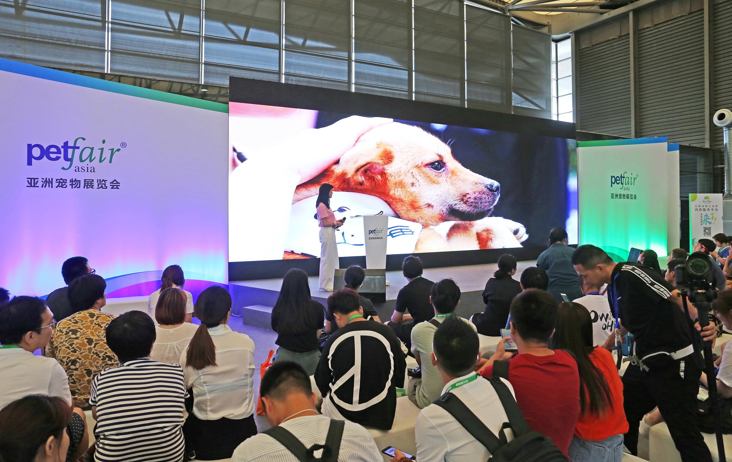 """第22届亚洲宠物展在上海开幕 喵星人、汪星人享受""""星级待遇"""""""