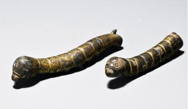 河北定州发现汉代鎏金铜蚕 距今约2000年