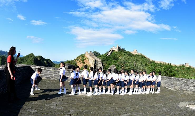 石家庄一学校在承德金山岭长城开展暑期夏令营活动