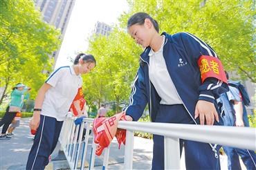 廊坊市开展中小学生进社区集中志愿服务活动