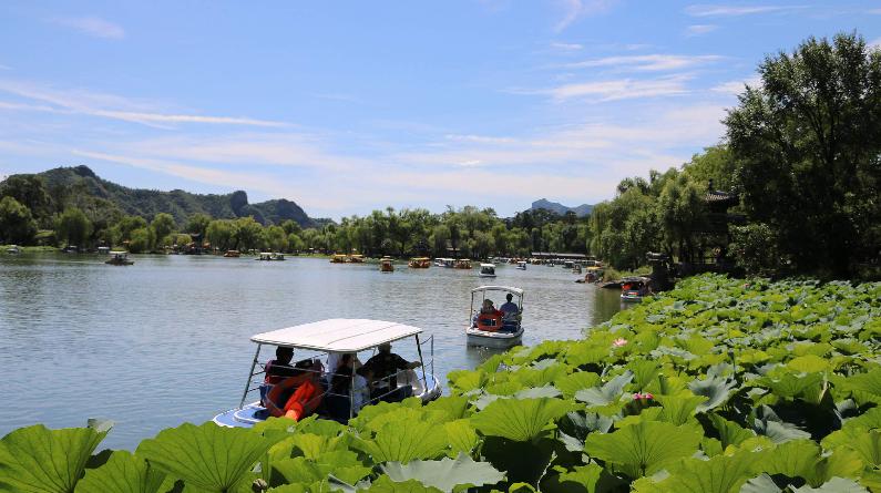 河北承德:避暑山庄处暑时节人气旺