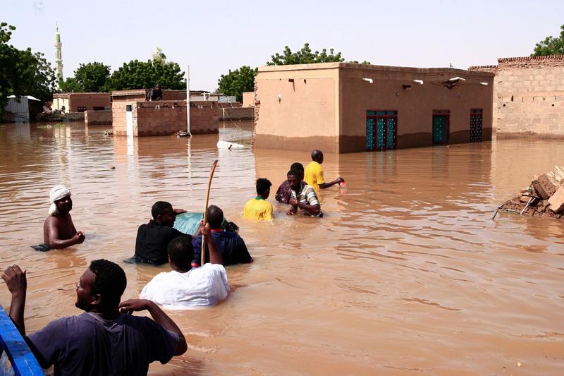 尼罗河水位暴涨引发洪灾