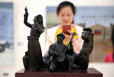 中央美术学院作品邀请展在河北大厂开幕