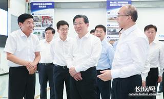 王东峰在燕山大学调研检查 许勤参加