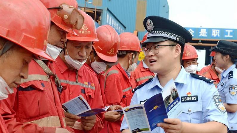 河北黃驊:法律宣傳到碼頭
