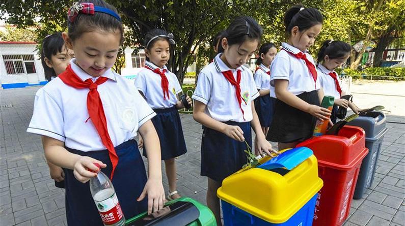 河北文安:垃圾分類進校園