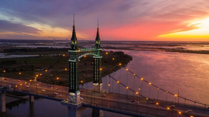 哈尔滨:冰城湿地夕阳红