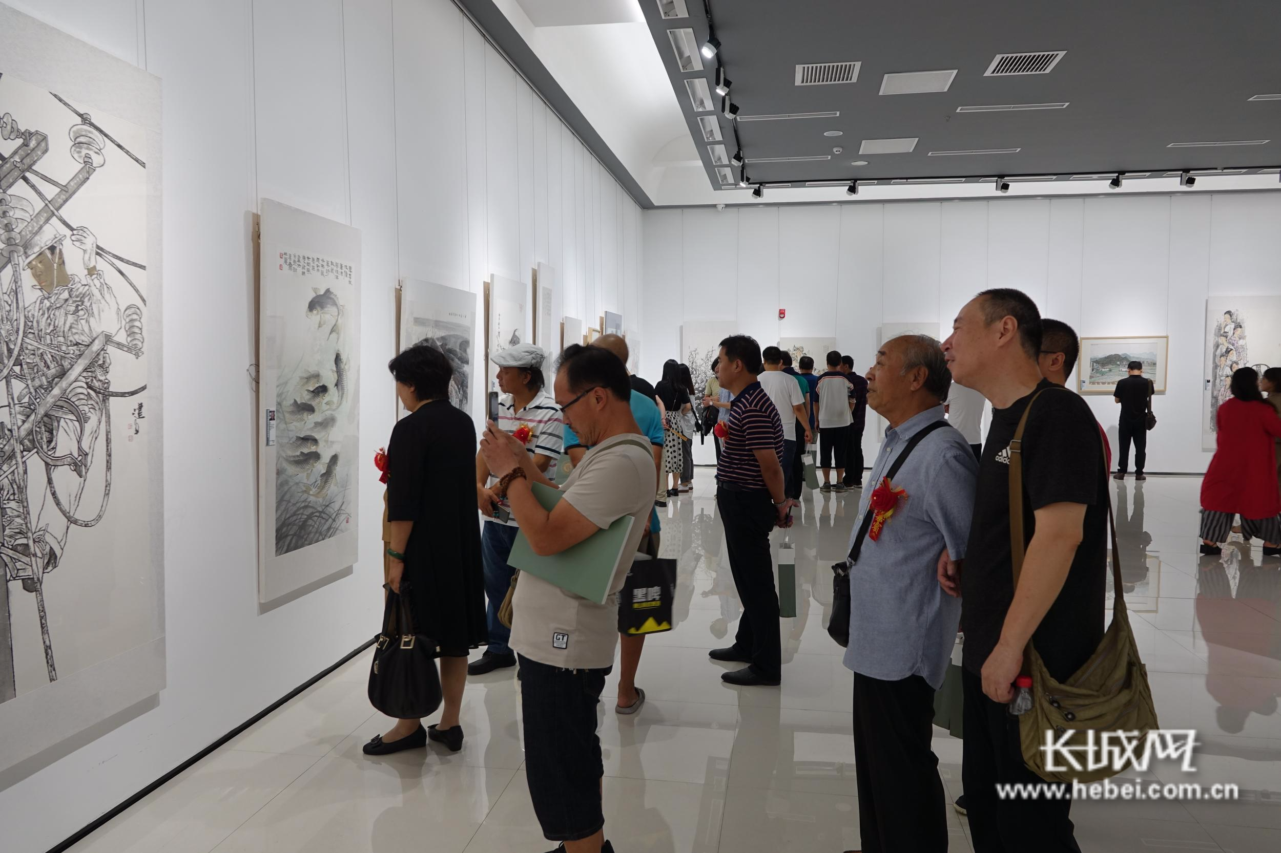 保定市中国画学会首届会员作品展开展