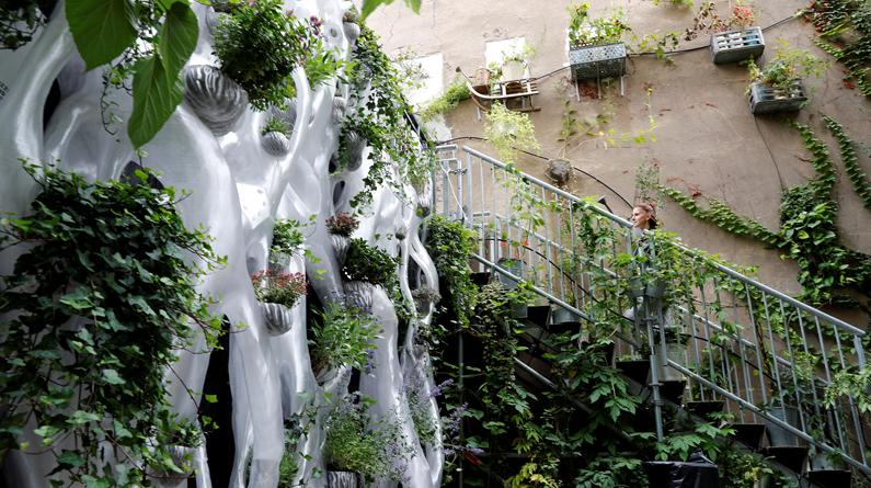 世界首个3D打印动植物栖息装置亮相德国