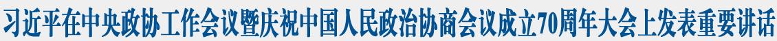 习近平在中央政协工作会议暨庆祝中国人民政治协商会议成立70周年大会上发表重要讲话