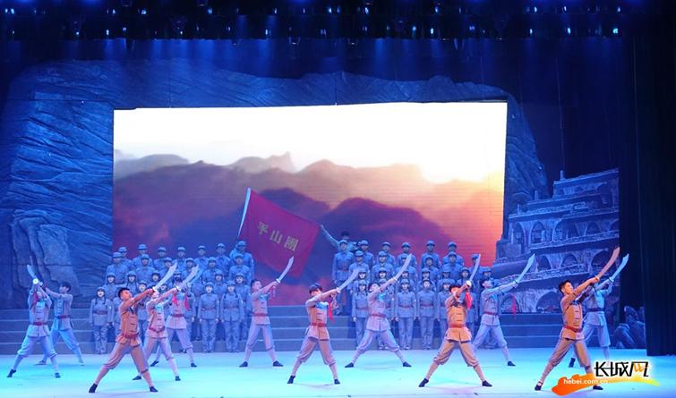 【高清大图】音乐舞蹈史诗《西柏坡》在河北师大开演