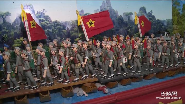 视频|石家庄八旬老兵创作140人泥塑《血战湘江》 向祖国献礼!