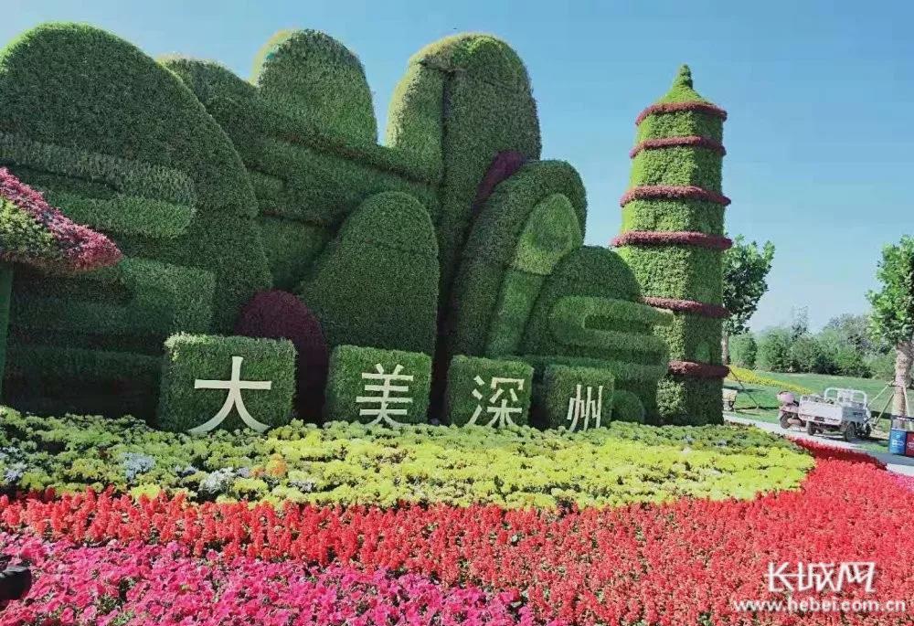 深州东山植物园扩建项目盛装一新迎宾朋