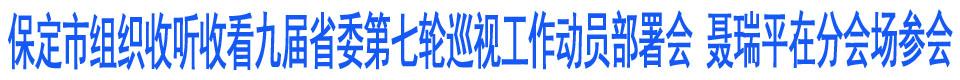 保定市组织收听收看九届省委第七轮巡视工作动员部署会 聂瑞平在分会场参会