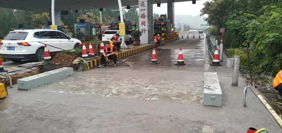 邯郸辖区高速公路入口称重施工加紧实施