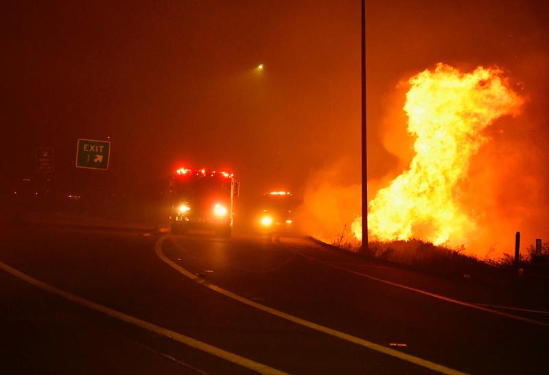 美国加州发生野火