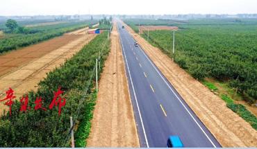 辛集南部大动脉贾大线改建工程即将全线通车