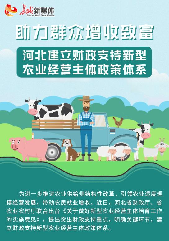 【图解】助力群众增收致富 河北建立财政支持新型农业经营主体政策体系