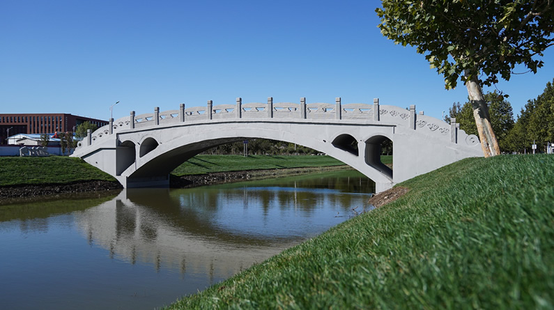 """创三项世界纪录 河北工大打印了一座""""赵州桥"""""""