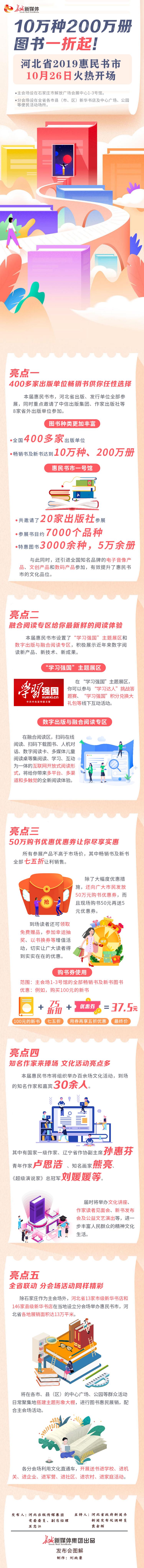 【发布会图解】10万种200万册图书一折起!河北省