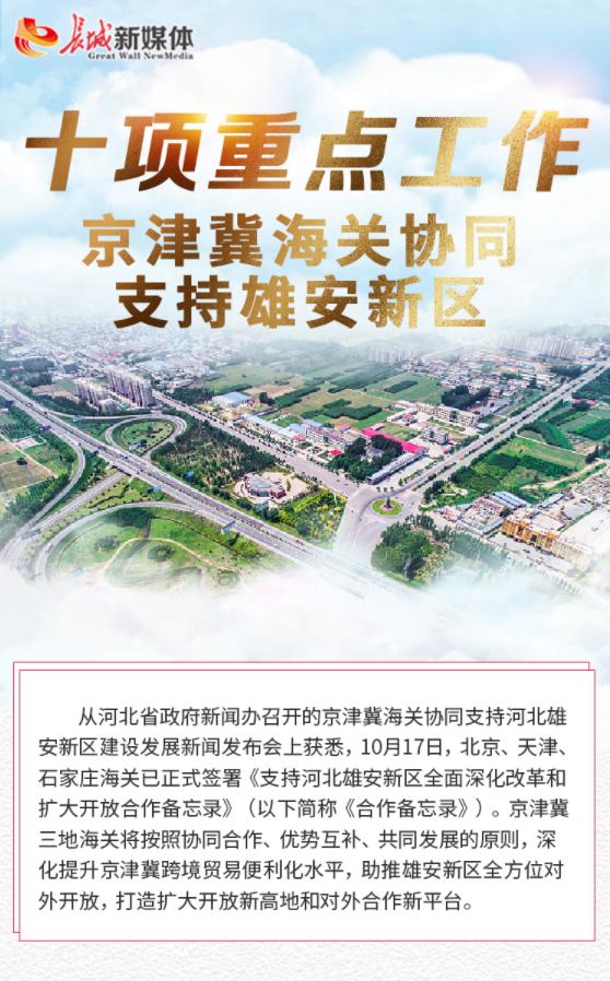 【发布会图解】十项重点工作 京津冀海关协同支持雄安新区