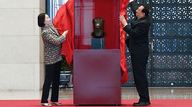 圆明园马首铜像捐赠仪式在京举行