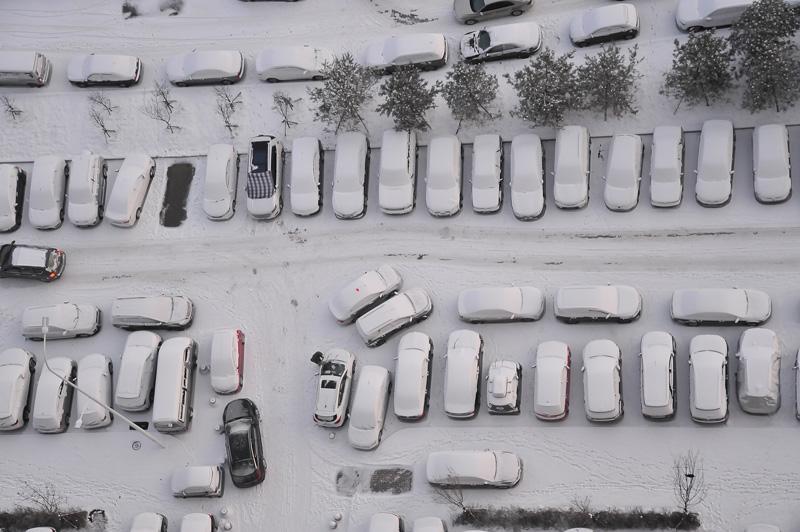 实拍雪后冰城 美景如画