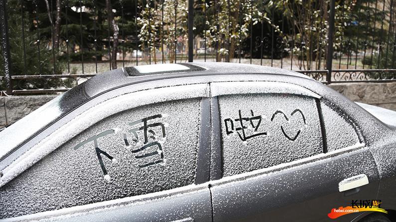 【高清组图】轻雪飞扬 街拍石家庄