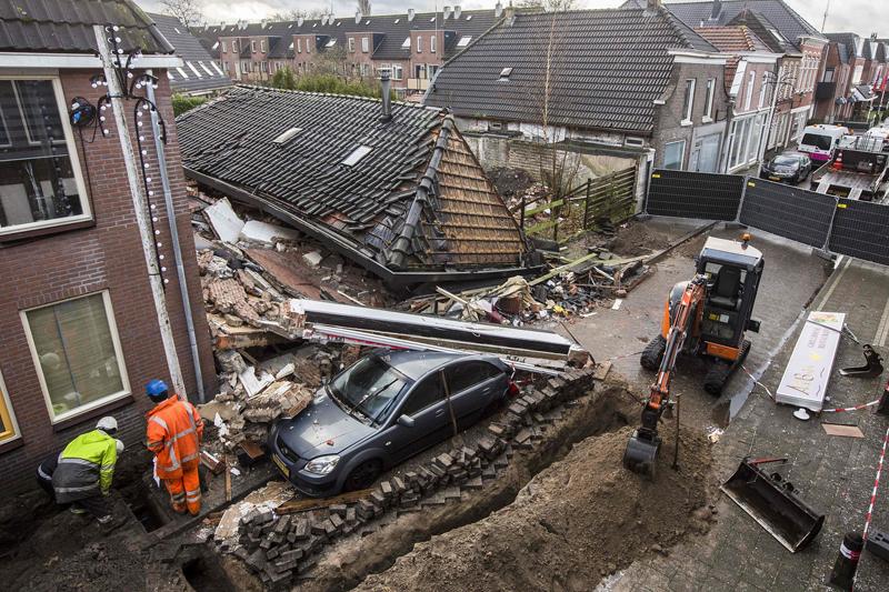 荷兰一栋建筑因爆炸发生坍塌